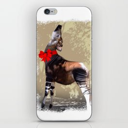 Okapi  with Red Bow iPhone Skin