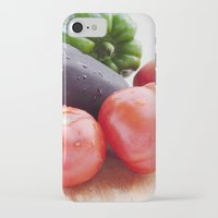 vegetables iPhone & iPod Cases featuring Vegetables by Carlo Toffolo