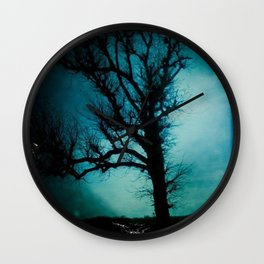 black tree Wall Clock