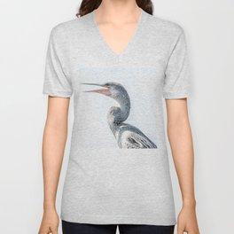 Snake Bird: Anhinga Unisex V-Neck