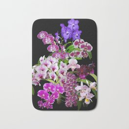 Orchids - Cool colors! Bath Mat