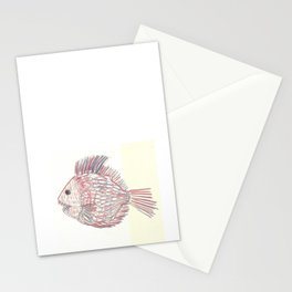 3d piranha Stationery Cards