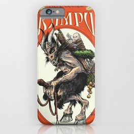 """Here Comes Krampus"" iPhone Case"