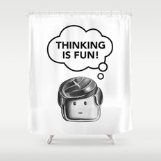 Thinking is Fun Shower Curtain