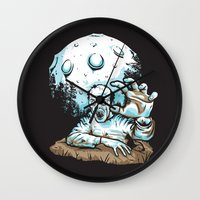 dragonball z Wall Clocks featuring Z! by Locust Years