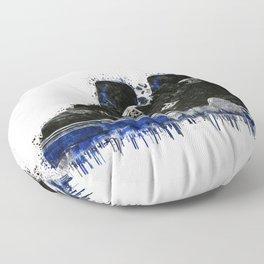 Jordan 4 Splatter Floor Pillow