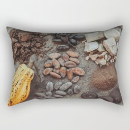 Cacao, beans, chocolate Rectangular Pillow