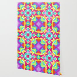 Geometric Mandala Multi Color Wallpaper