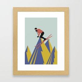 vintage ski poster Framed Art Print