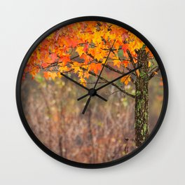 Autumn In Connecticut Wall Clock