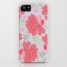 spring pattern iPhone Case