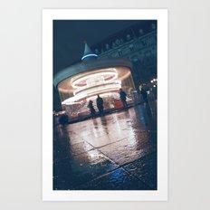 Paris Ferris Art Print