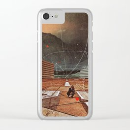 Tracing your Steps Clear iPhone Case