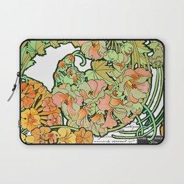 Romance in Paris, Art Nouveau Floral Nostalgia Laptop Sleeve