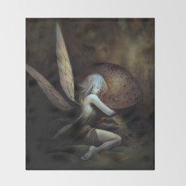 Fairy and Mushroom Throw Blanket
