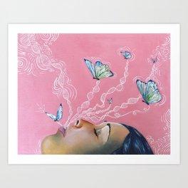 Butterfly Dreamer Art Print