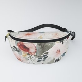 Loose Watercolor Bouquet Fanny Pack