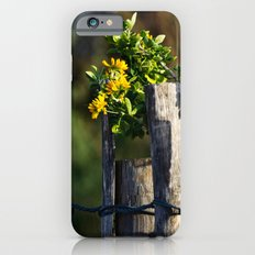 Yellow flower and wood fence Slim Case iPhone 6s