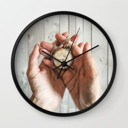 time in your hands Wall Clock