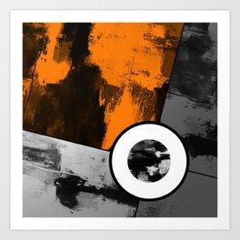 Metallic Scope - Abstract, geometric, metallic cross hair scope design Art Print