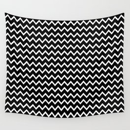 Black Chevron Wall Tapestry