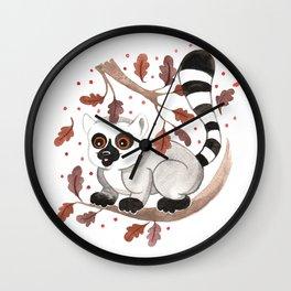 Lemur Nursery Illustration Wall Clock