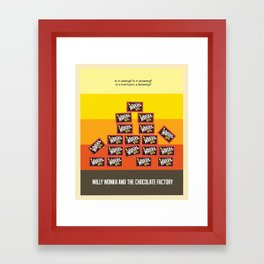 Willy Wonka And The Chocolate Factory Framed Art Print