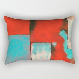 The Corners of My Mind, Abstract Painting Rectangular Pillow