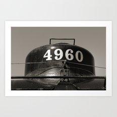 Train parts - Engine Art Print