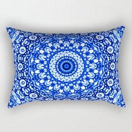 Blue Mandala Mehndi Style G403 Rectangular Pillow