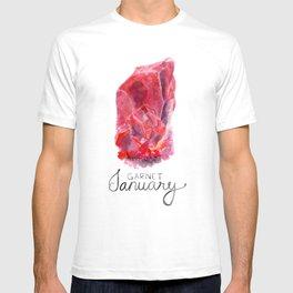 January Birthstone | Garnet Watercolor T-shirt