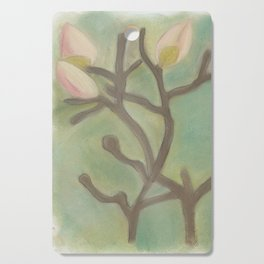 Subdued Magnolia Floral Cutting Board
