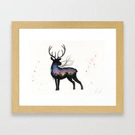 Aurora Australis Stag  Framed Art Print