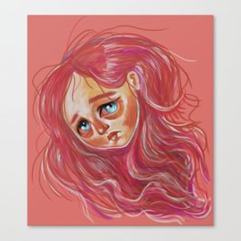 Floating Red Head Canvas Print