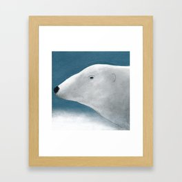 Blue Day Polar Bear Framed Art Print