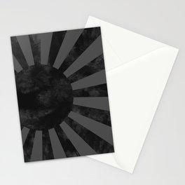 Black Japan Empire Flag Stationery Cards