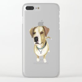 Watercolour Dog Clear iPhone Case