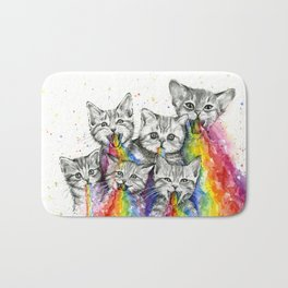 Kittens Puking Rainbows Bath Mat