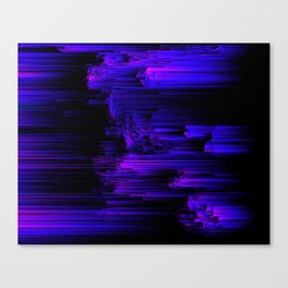 Ultraviolet Light Speed - Abstract Glitch Pixel Art Canvas Print