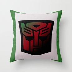 Transformers Generation 1: Rub Sign: Autobot Throw Pillow