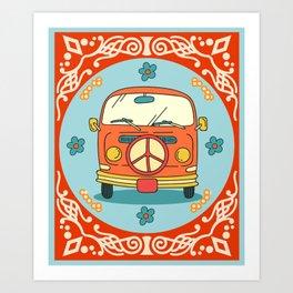 Hippie 70s Art Print