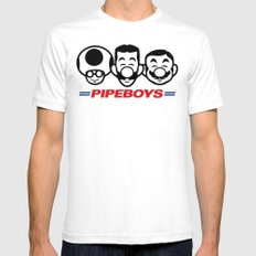 Pipe Boys White SMALL Mens Fitted Tee