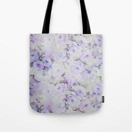 Vintage lavender gray botanical roses floral Tote Bag