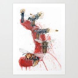 GUN SHOT ONE SHOT Art Print