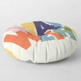 STAY WEIRD - colorful typography Floor Pillow