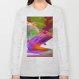 Underwater Stump Oil Painting Long Sleeve T-shirt