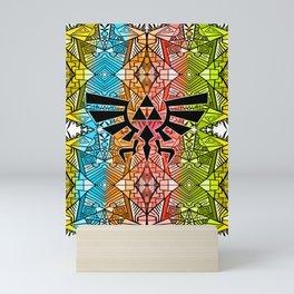 Hylian Royal Crest - Legend Of Zelda - Rainbow Pattern Mini Art Print