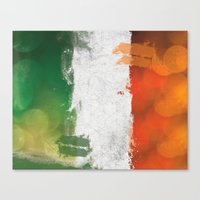 ireland Canvas Prints featuring Ireland by Fresh & Poppy