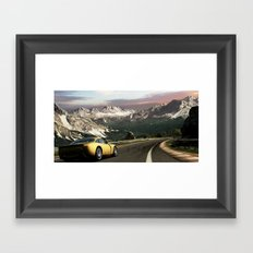 Canyon Run Framed Art Print