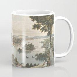 Vintage Pictorial Map of Richmond VA (1834) Coffee Mug